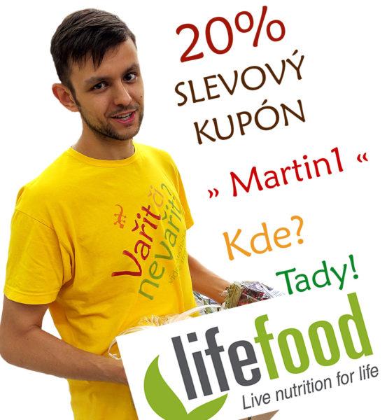 20% slevový kupón Martin1 v eshopu lifefood.cz